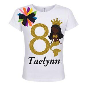 d4762f61 Bubblegum Divas 8th Birthday Black Mermaid Girl Shirt Personalized 8 ...