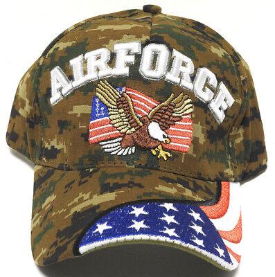 U.S NAVY VETERAN Cap//Hat W//Flag /& Eagle Blue Military *Free Shipping*