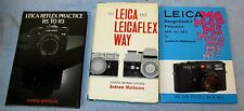 3 Andrew Matheson Camera Book Lot Leica & Leicaflex/R5 to R3/M6 to M1 J605
