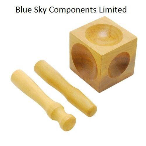 """De madera Abovedado Punch Joyeros 2.5/"""" 55mm conjunto de herramientas Abovedado Bloque Embutidores Madera"""