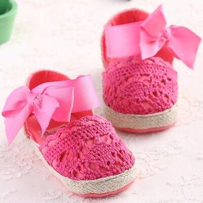 Baby Infant Kids Girl Soft Sole Crib Toddler Newborn Shoes 0-18 months anti-slip