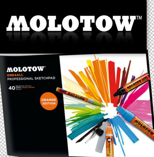 MOLOTOW ONE4ALL™ Professional Artbook Artpad Sketchbook A3 A4 A5 Marker Pad