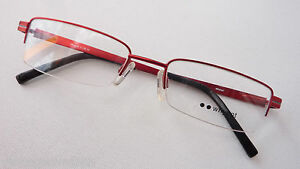 Beauty & Gesundheit Brillenfassung Rot Nur Oberrand Metallgestell Halbrand Unten Randlos 51-18 Gr.m Um Jeden Preis