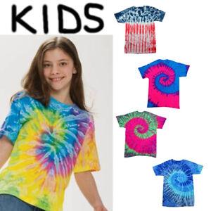 Kids Tie Dye T Shirt Youth Short Sleeve NEW Boys Girls Hippy Kid Cool TD951