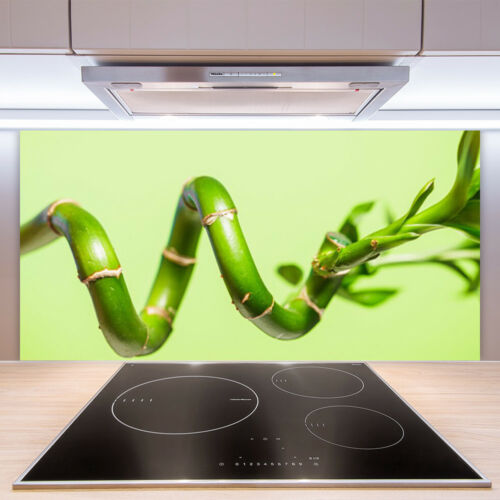 Kitchen Splashback 100x50 Tempered Glass Bamboo Floral