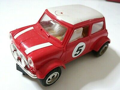 Ben Informato Scalextric Mini Cooper Rally 1/32 Slot Car Senza Ritorno