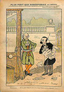 "Caricature Politique Guillotine Maxime de Robespierre Aristide 1913 ILLUSTRATION - France - Commentaires du vendeur : ""OCCASION"" - France"