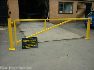 Details about # CAR PARKING BARRIER HEAVY DUTY POWDER COATED 10FT WIDE  CARPARK GATE ANY SIZE