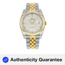Rolex Datejust 116203 SSJ Steel 18K Yellow Gold Silver Dial Automatic Mens Watch