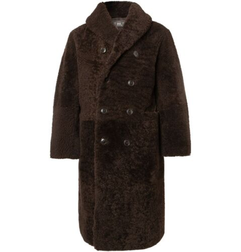 $3900 RRL Ralph Lauren Double Breasted Shearling T