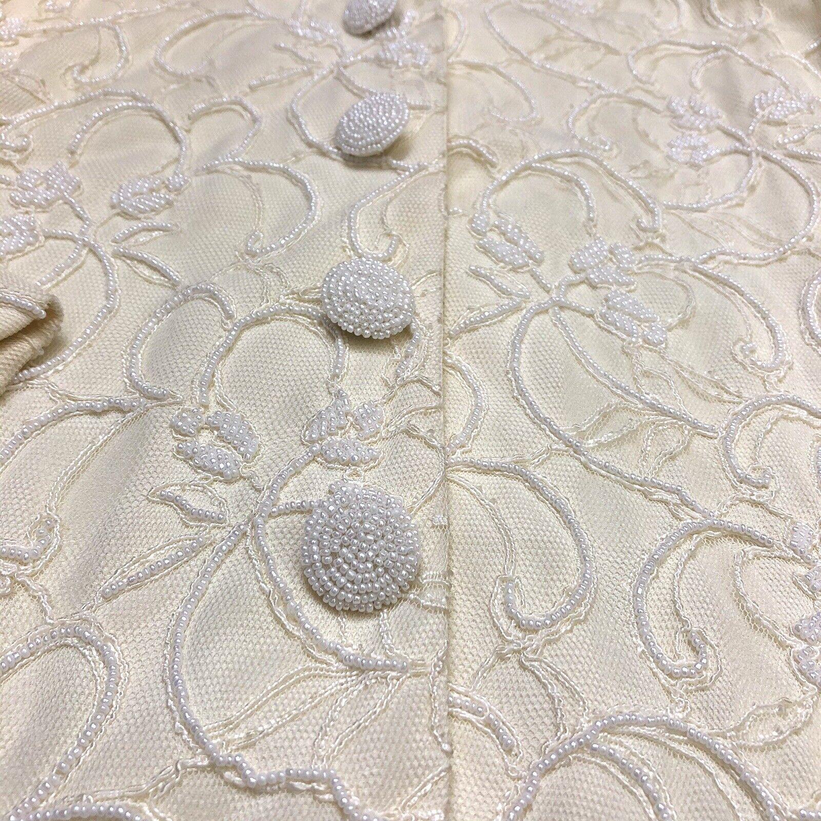 Marie St Claire Long Jacket Vintage Sz 12 Pearl B… - image 8