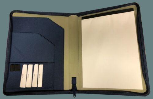 Schreibmappe A4 Ringbuch blau oder schwarz