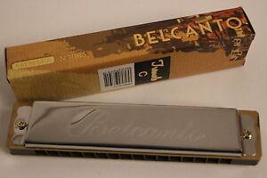 Armonica-a-bocca-Harp-C-Belcanto-32-canne-Tremolo-piu-di-100-x-venduto-NUOVO
