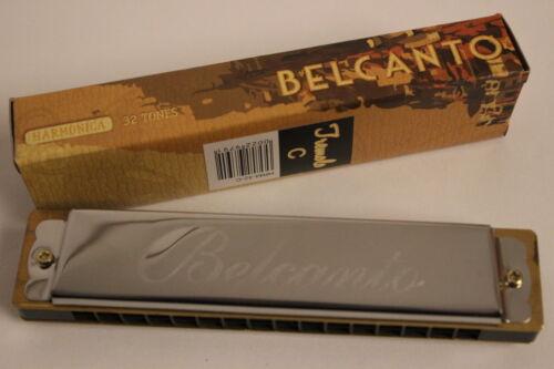 Mundharmonika Harp C Belcanto 32 chörig Tremolo mehr als 100 x verkauft NEU!!