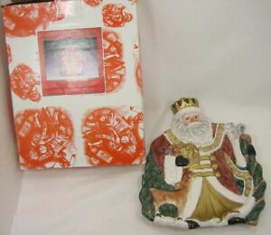 Omnibus by Fitz & Floyd King Wenceslas Canape Plate 1995 Box Included