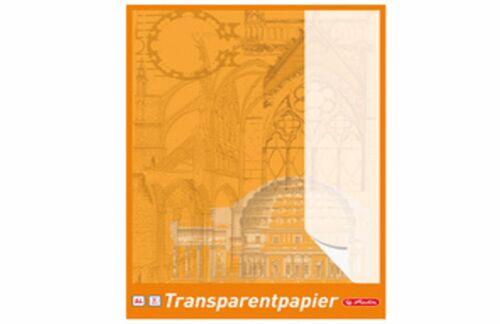 herlitz Transparentpapierblock DIN A4 65 g//qm weiß Transparentpapier