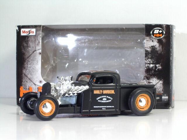 "MAISTO 14380 Chevy Pickup 1936 ""Harley-Davidson"" - METAL Scala 1:64"