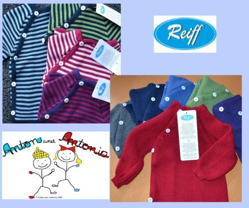 REIFF Coton Rayures//Uni schlüttli manches longues tricot Pull Gilet 50-104 KBA NEUF