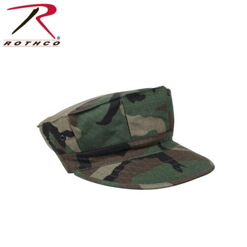 Marine Corps 5 Point Cap No Emblem Ripstop Size XS-XL Woodland Camo Rothco#5633
