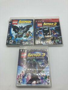 Sony PlayStation 3 PS3 Tested LEGO Batman 1 2 3 Trilogy LOT Bundle Ships Fast