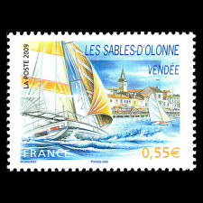 """France 2009 - Tourism """"Les Sables d'Olonne"""" Ships - Sc 3589 MNH"""