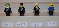 Lego Minifigure Cops Police cop038 cop041 cop051 cty450 LOT of 4    #LX753