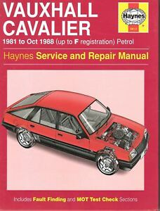 0812 vauxhall cavalier haynes service and repair manual 1981 to 1988 rh ebay co uk vauxhall cavalier mk2 manual vauxhall cavalier workshop manual