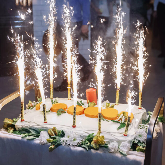 Ginger Ray Fontäne Eissterne Kuchen Hochzeit Geburtstag 3 Stück Punkte silber