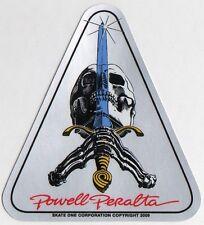 Powell Peralta Skateboard Sticker Skull & Sword Reissue bones brigade old school