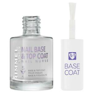 Rimmel Nail Nurse 5 in 1 Base and Top Coat Strong Shinier Moisturised Nails