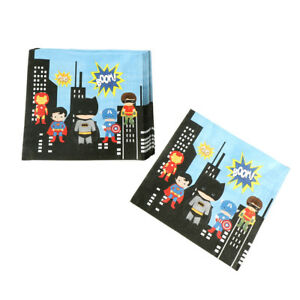 20x-kids-favors-superman-paper-napkins-superhero-birthday-decor-party-supply-D-X