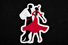 Couple Dancing Tango Silhouette Flexible Fridge Refrigerator Magnet by Osarix