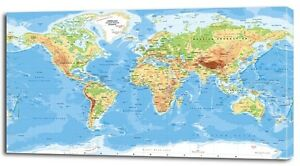 4 sizes classic world map canvas print home wall decor art giclee image is loading 4 sizes classic world map canvas print home gumiabroncs Image collections