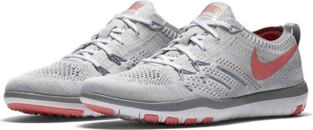 25032ea2f6cc4 Nike Free TR Focus Flyknit White Bright Melon Wolf Grey 844817 108 Wmn Sz