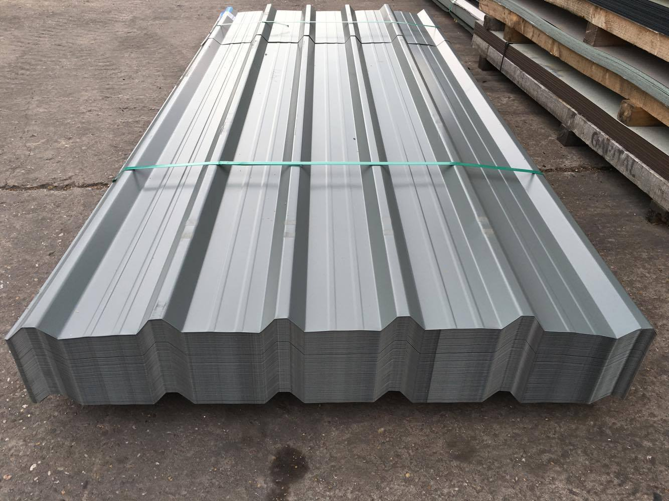 Box Profile Steel Roofing Sheets Merlin Grey Pvc Coated
