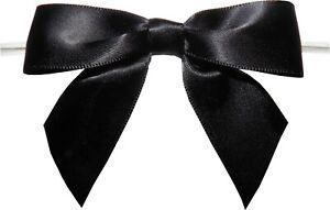 """Baywind LTD 1.75/"""" Black Twist Tie Bows packed 250 pieces"""