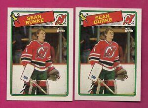 2-X-1988-89-TOPPS-94-DEVILS-SEAN-BURKE-ROOKIE-NRMT-MT-CARD-INV-A5769