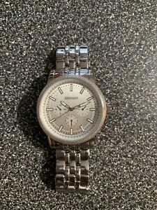 Hennessey Men S Analog Display Quartz Silver Watch New Ebay