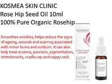KOSMEA SKIN CLINIC Rose Hip Seed Oil  10ml 100% Pure Organic PURSE SIZE Rosehip