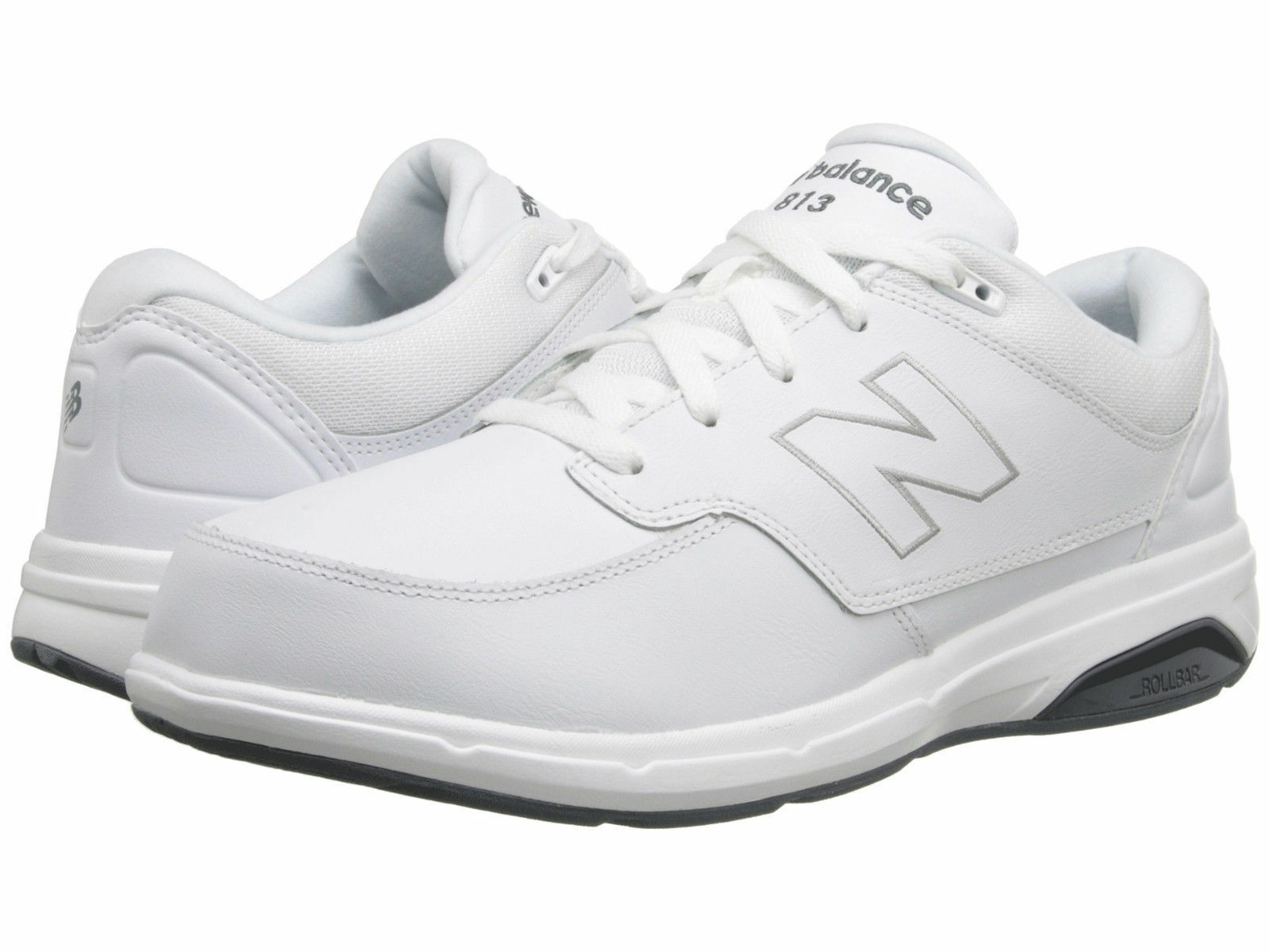 Men New Balance MW813WT Walking Leather Extra Wide 4E White 100% Authentic New