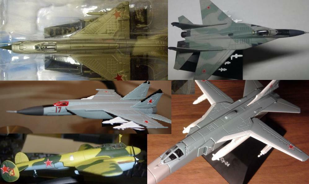 1 72-1 500 Soviet aircraft die cast model by your choice of 1 thru 51 DeAgostini