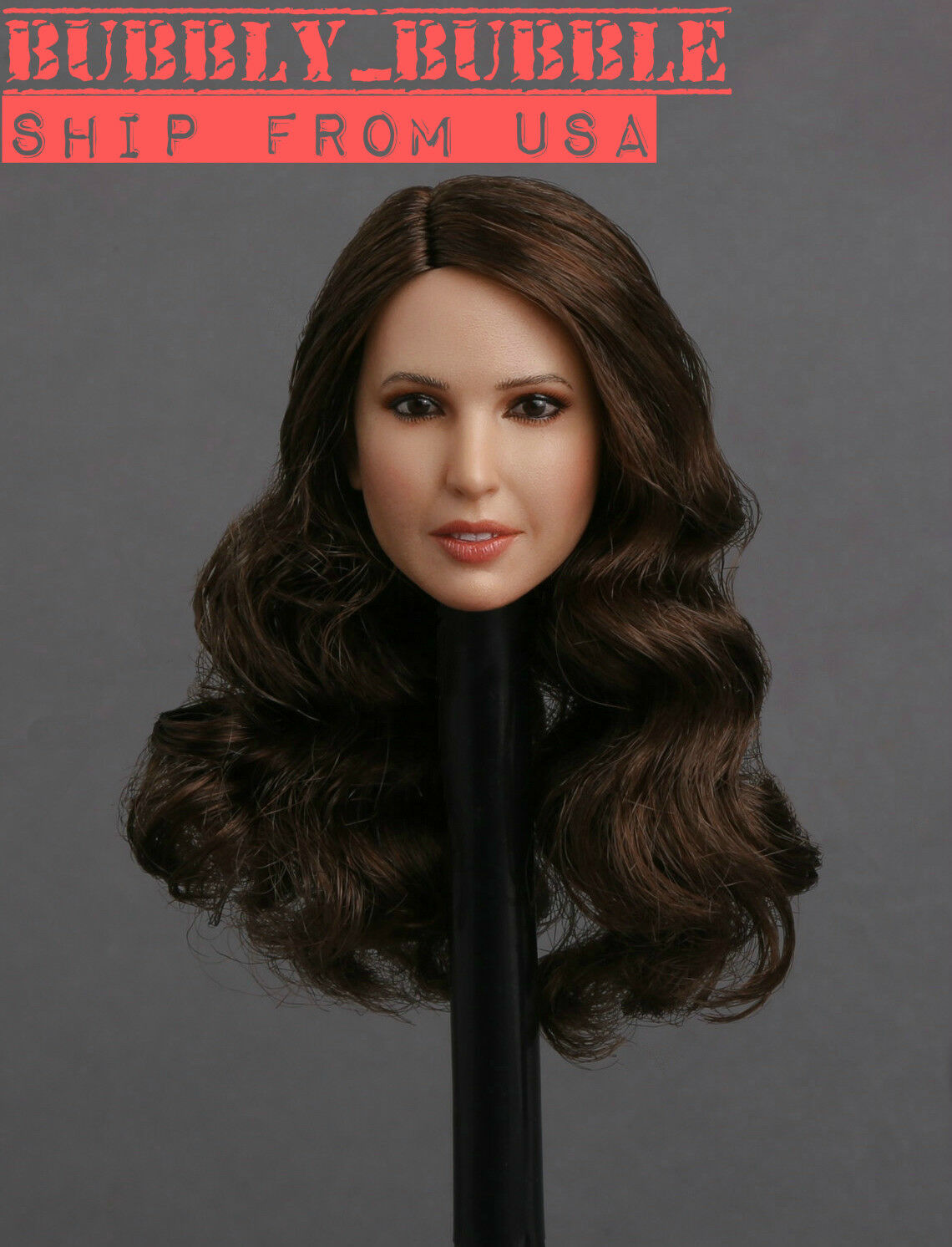 1 6 Female Head Sculpt GC018 D Brown Hair For 12  PHICEN Hot Toys Figure  USA