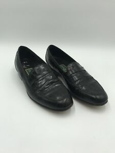 77bb1ccfc36 Image is loading COLE-HAAN-Womens-Black-Leather-Penny-Loafers-Size-