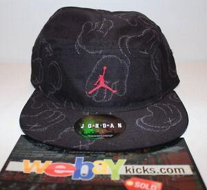 32eed096 Air Jordan Kaws IV 4 Black Gray Grey Exclusive Strapback Cap Hat New ...