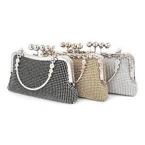 Image Is Loading Glaring Crystal Evening Handbags Wedding Bridal Party Prom