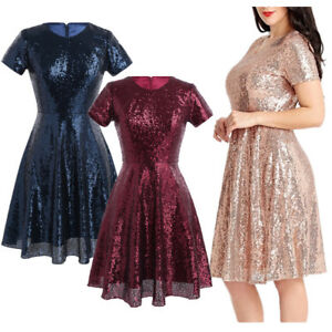 Fashion-Womens-A-line-Short-Dress-Prom-Evening-Party-Cocktail-Bridesmaid-Wedding