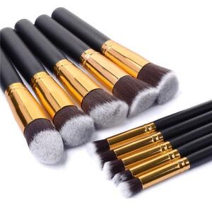 Glamza-10PC-Oro-Negro-Conjunto-de-Pinceles-para-Maquillaje-Base-de-Maquillaje-Caso-de-ojos