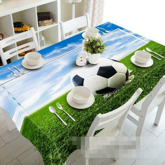 3D Football 40 Tablecloth Table Cover Cloth Birthday Party Event AJ WALLPAPER AU