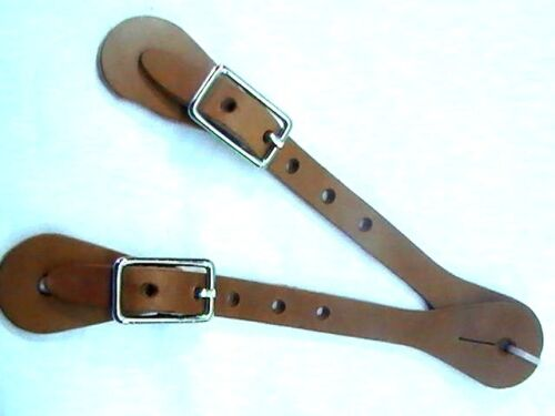 Amish made cuir naturel Youth Taille Cowboy Spur bretelles Horse Tack Equine
