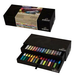 45-Rembrandt-Pastellkreiden-extra-feine-Softpastelle-in-der-Schiebebox